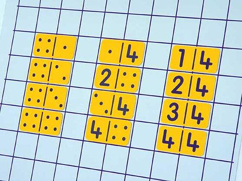 Double Nine Magnetic DOT Dominoes
