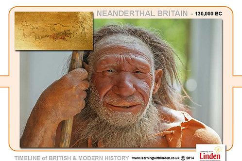 Neanderthal A4 Timeline Plate