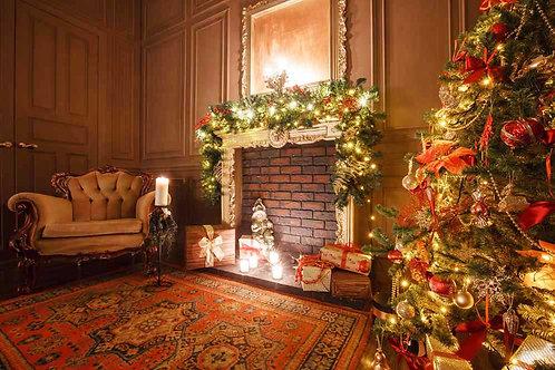 Santas Fireside backdrop