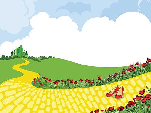 Yellow brick road illustration