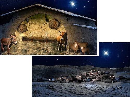 Christmas Nativity Backdrops - Large 175 x 96cm