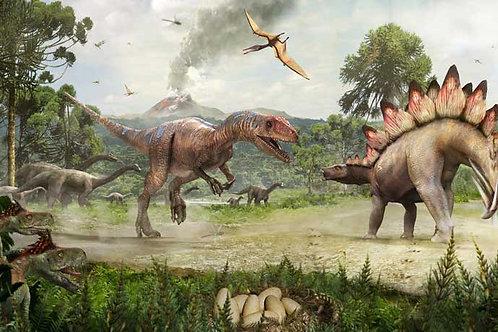 Dinosaur Allosaur Bespoke Backdrop