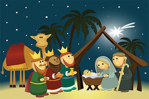 Nativity Scene at Night