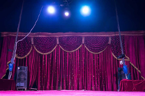 Circus stage curtain