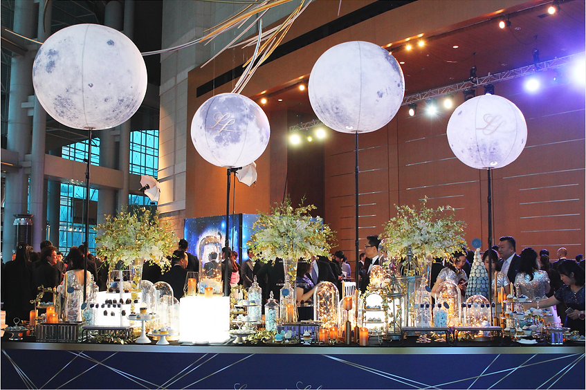 Starry night weddiing, dessert table, candy corner, blue wedding