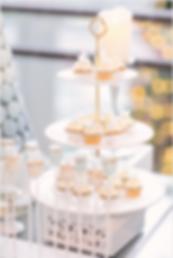 Mini buttercream cupcakes, dessert table, candy bar