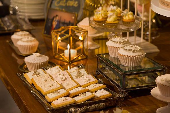 fondant icing cookies, fondant cupcakes, dessert table, candy corner