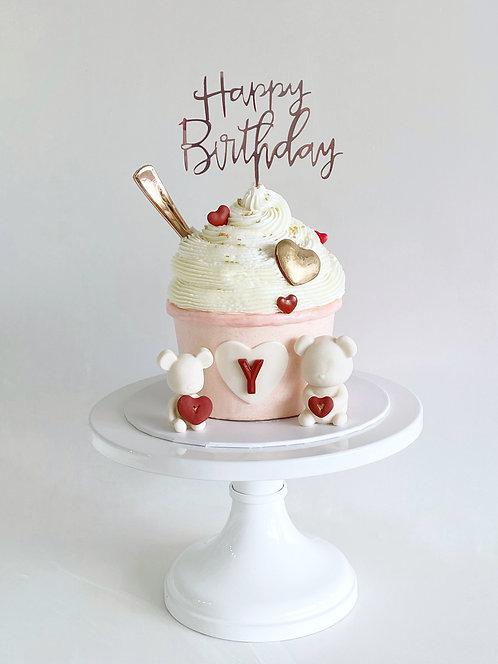 Ice cream sundae buttrcream cake