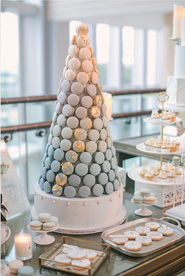 Macaron tower, ombre macaron tower, dessert table, candy bar