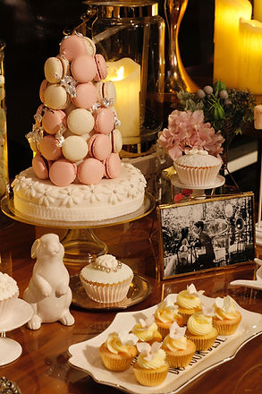 Macaron Tower, Dessert table, candy corner