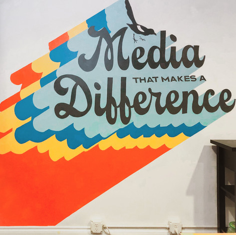 Branding + Mural: Rogue Heart Media