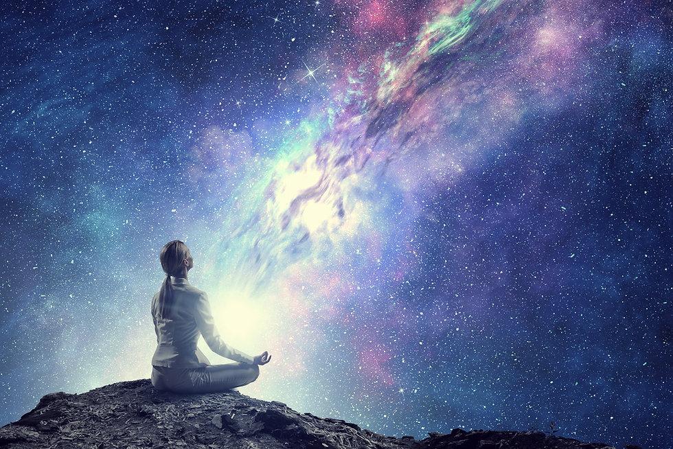 Meditating under the stars