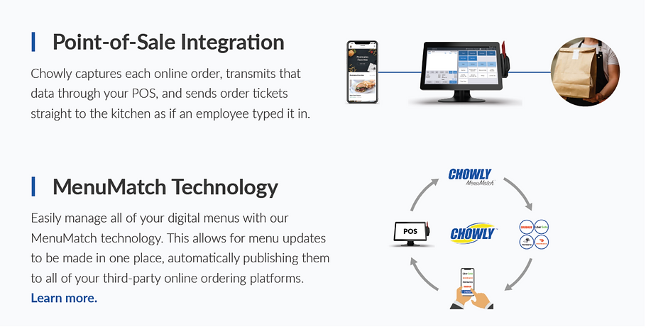 Chowly integrations