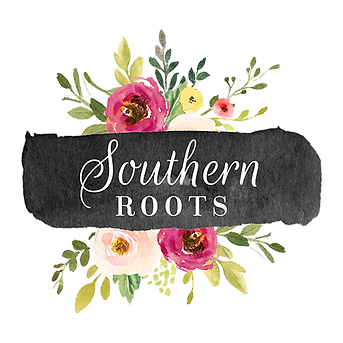 Southern Roots Logo With Flowers
