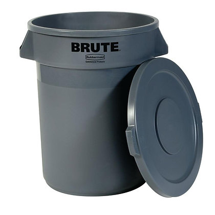 Trash Can - 55Gal Black
