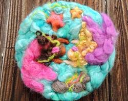 Wool Art - Two Mermaids Best Friends