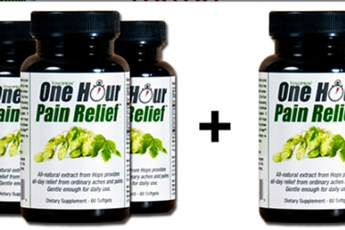 Vinoprin® One Hour Pain Relief All-Natural Pain Relief Buy 3 Bottles, Get 1 Free