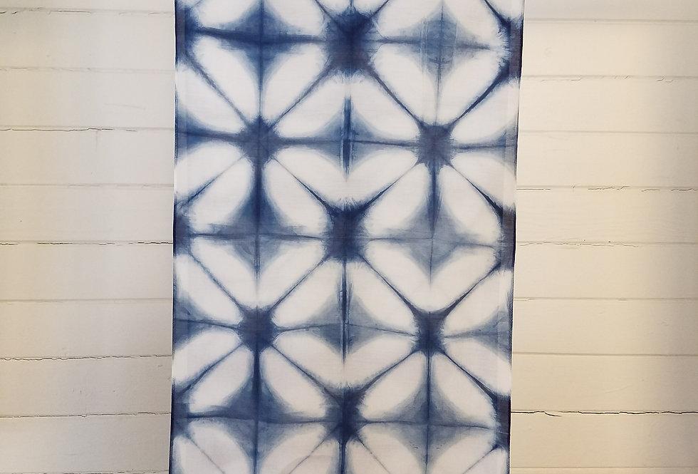Cotton SIlk blend Itajimi Shibori