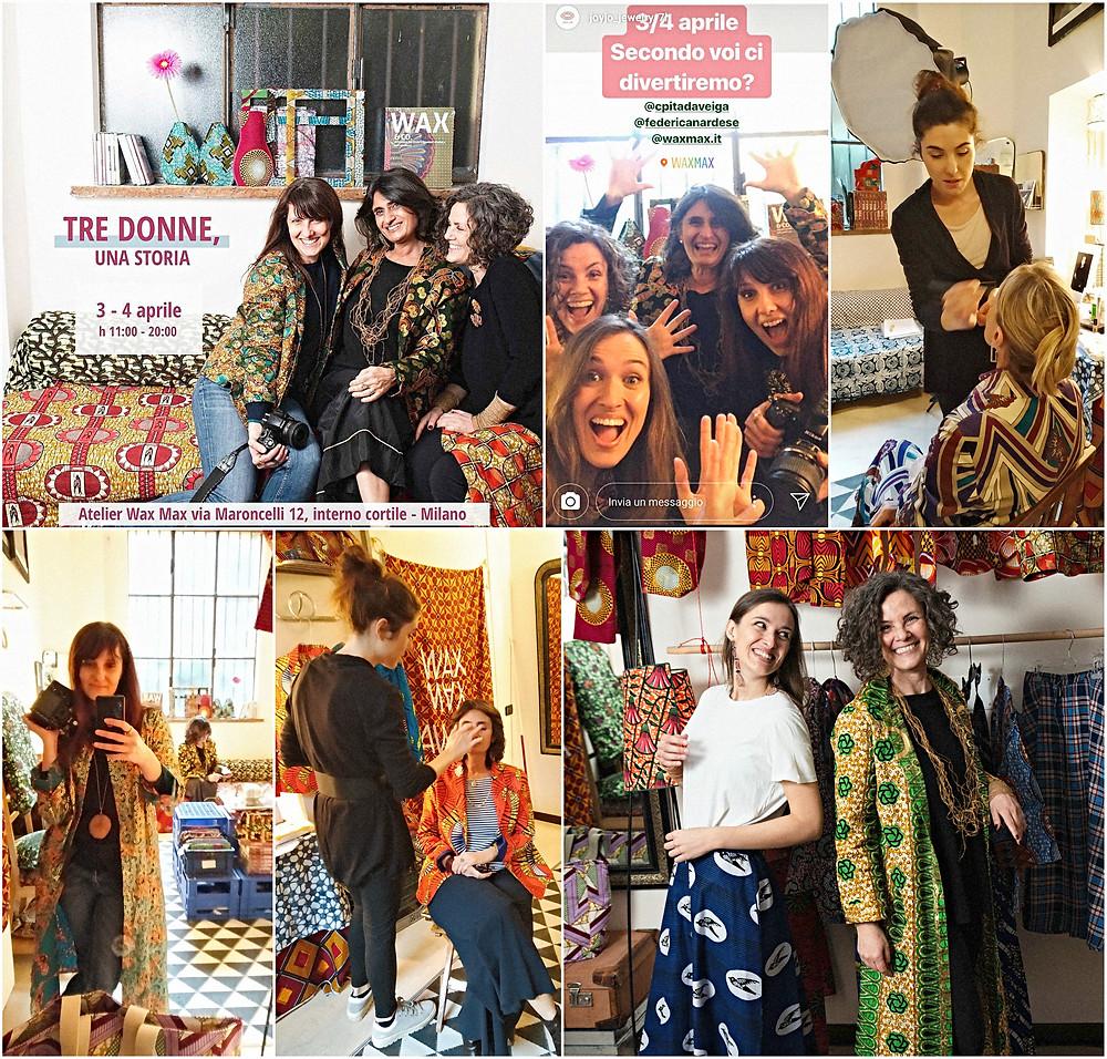 tre donne una storia - evento artigianato artistico milano