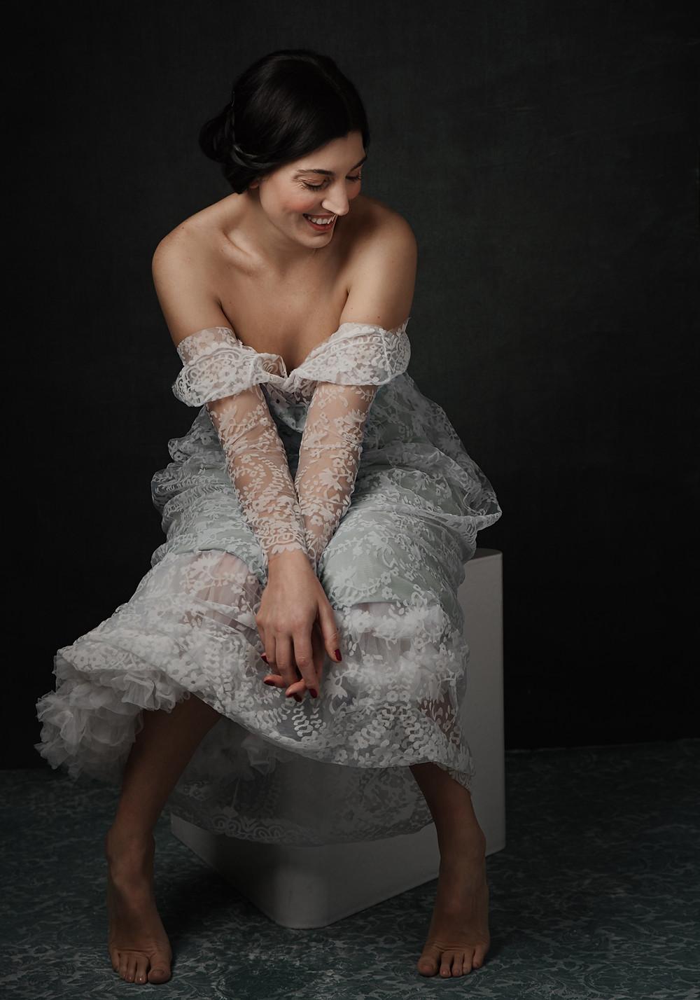 stupendo ritratto di donna che sorride