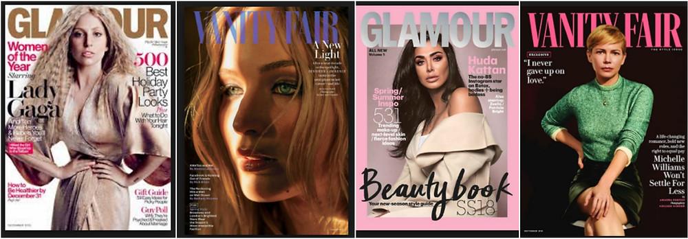 glamour & vanity fair covers - ritratto contemporaneo italia