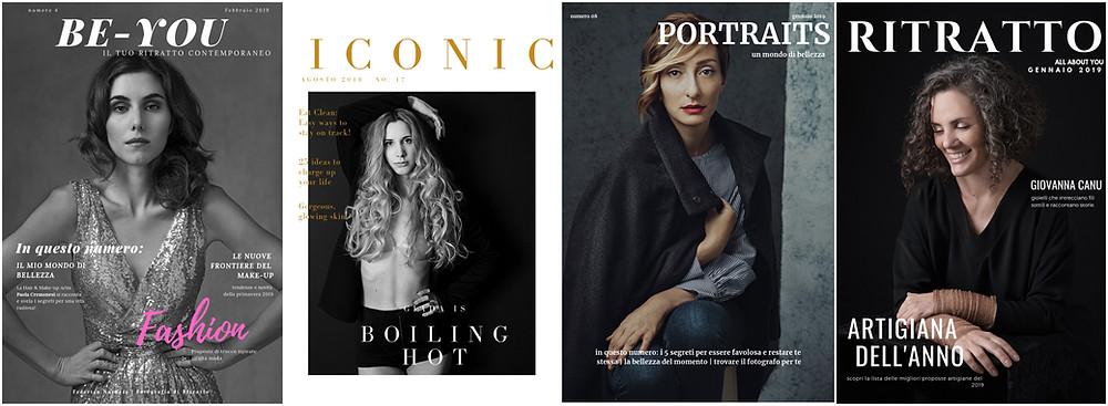 cover girls federica nardese ritratto contemporaneo magazine style milano portraits