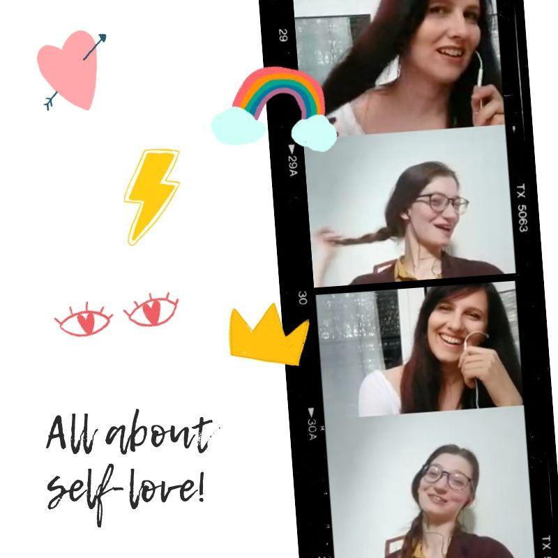 ragazze sorridenti che parlano in una intervista live IGTV podcast selflove, accettazione di sé, life coaching, counseling, fotografia di ritratto milano