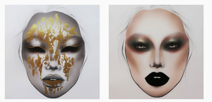 golden makeup inspiration face charts by Tobias Tran HMUA - Federica Nardese masterclass di ritratto creativo