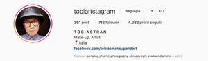profilo instagram del truccatore professionista Tobias Tran - Federica Nardese masterclass di ritratto