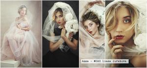 ritratti di donna con luce flash in studio privato a milano