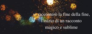 immagine banner con luci sfocate e frase ispirazionale