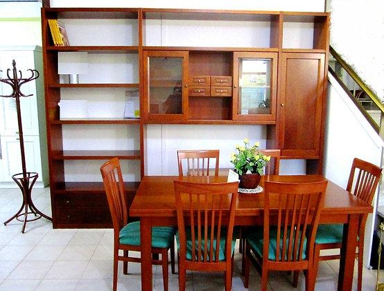 Tavolo 160  all a 240 + 6 sedie  legno ciliegio
