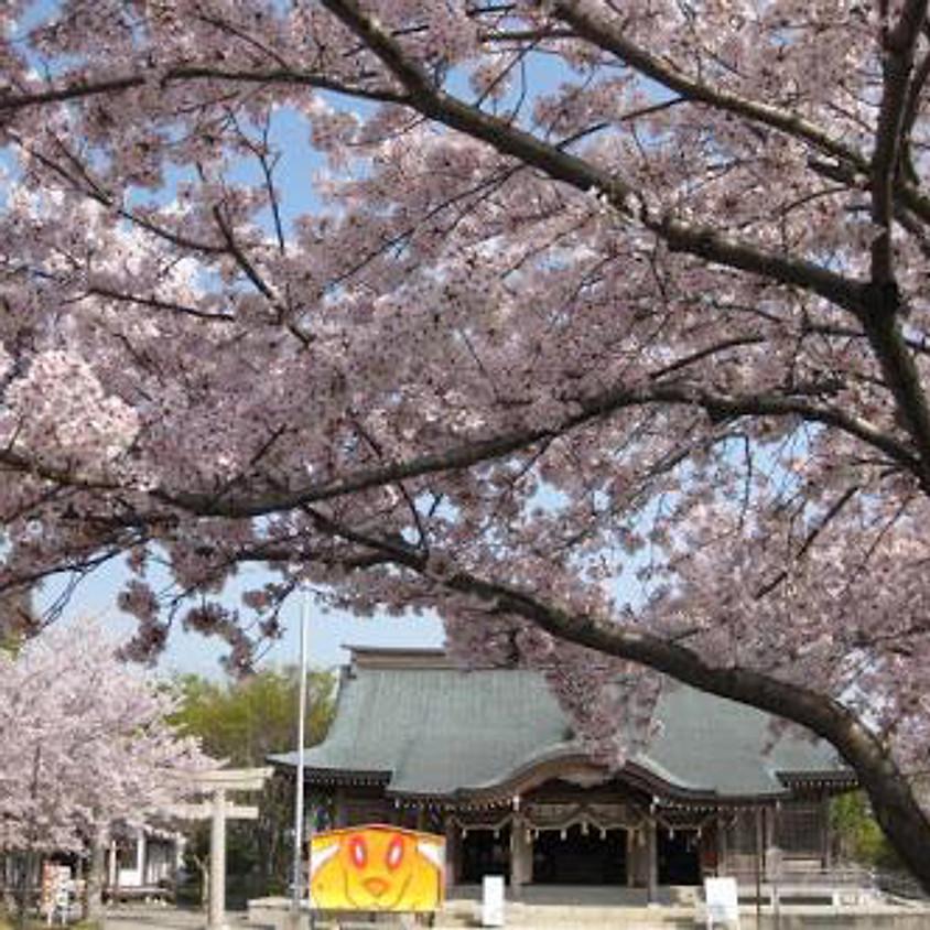 徳島縣護国神社 永代神楽祭 ハープと能の奉納