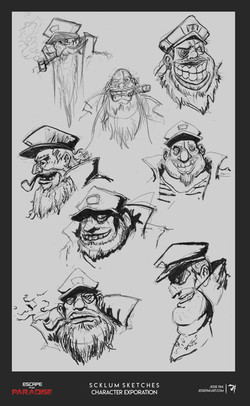 Scklumm_Portrait_Sketches