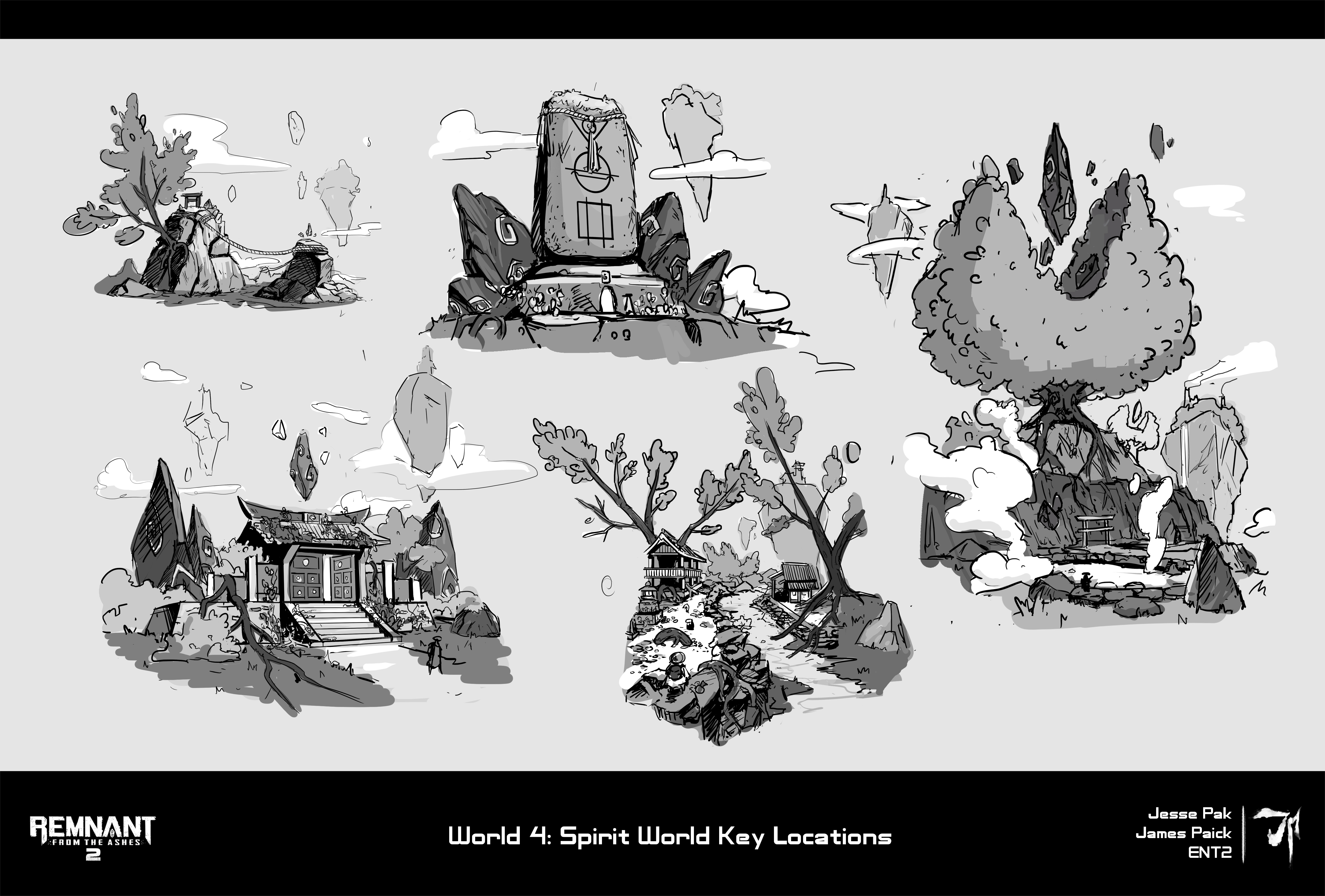 9. World 4 Location Sketches