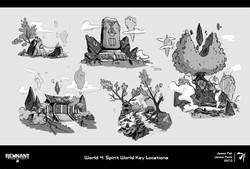 9. World 4 Location Sketches