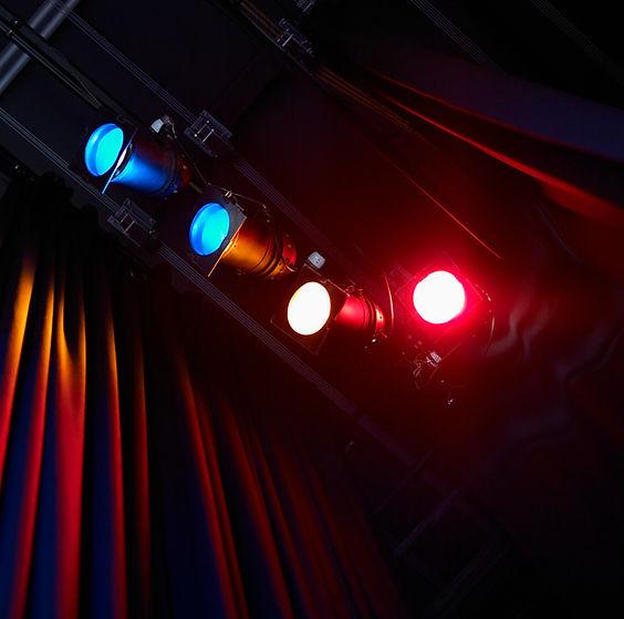 彩色劇院燈光