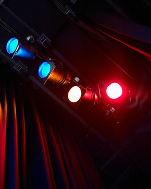 Coloridas Luzes de teatro