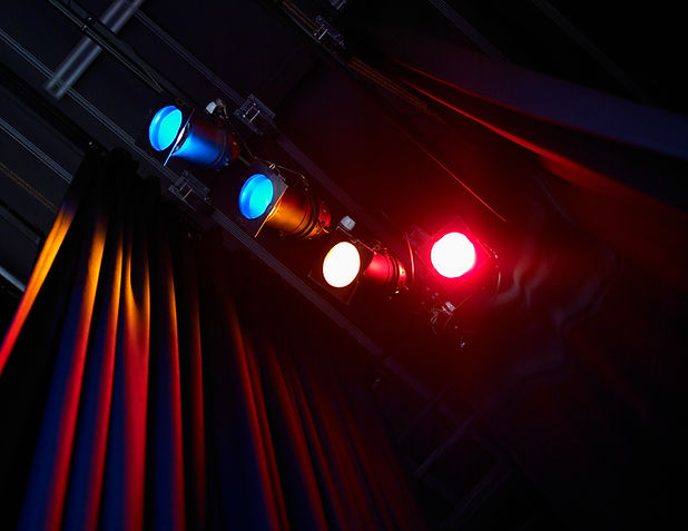 Teatro luci colorate