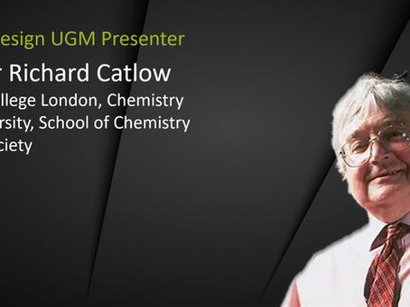 UGM Presenter Spotlight: Richard Catlow