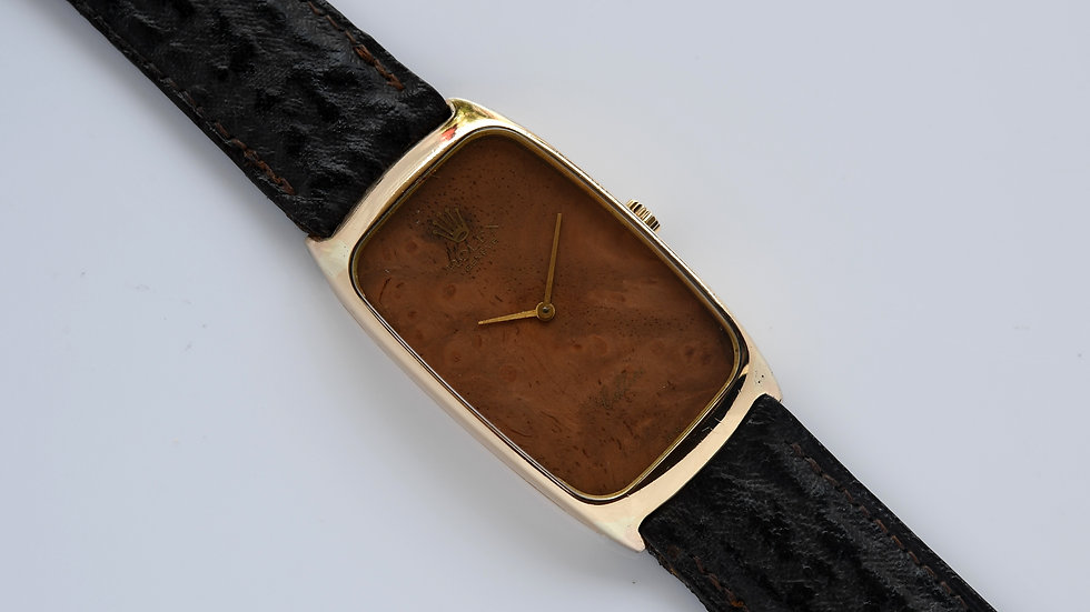 Rolex Cellini 4108 Wood Dial 18k Gold