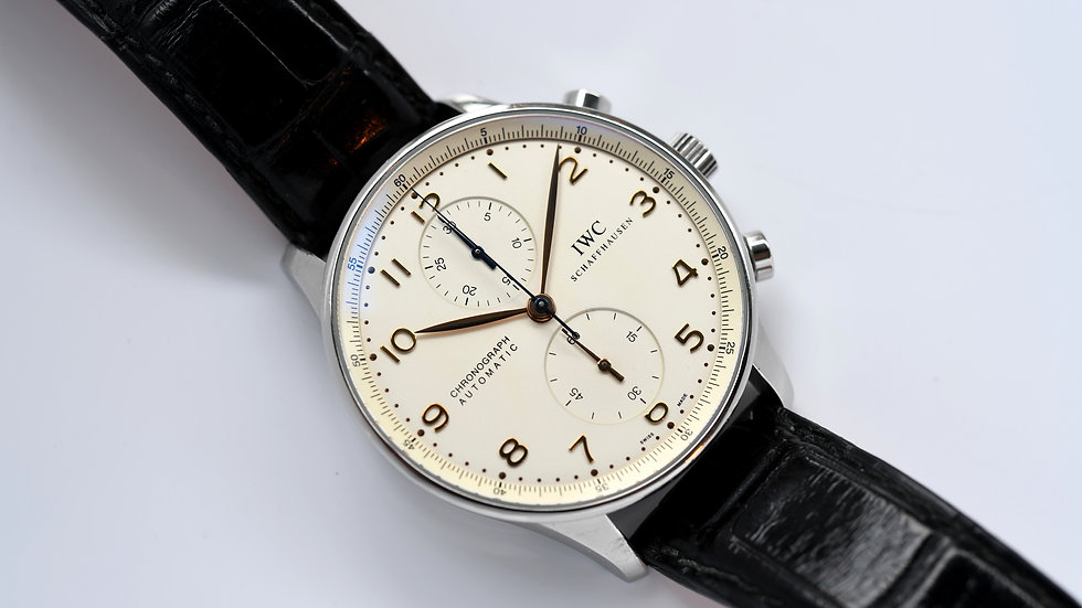 IWC Portugese 3714 Chronograph White Dial
