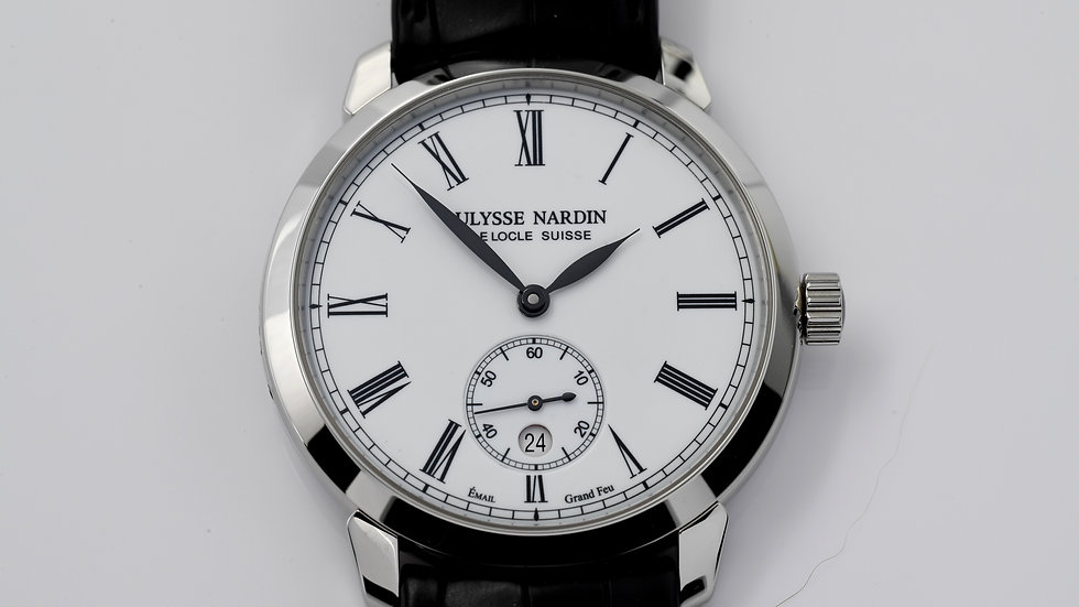 Ulysse Nardin Classico Manufacture 3203 136 White Dial Box Papers 2021