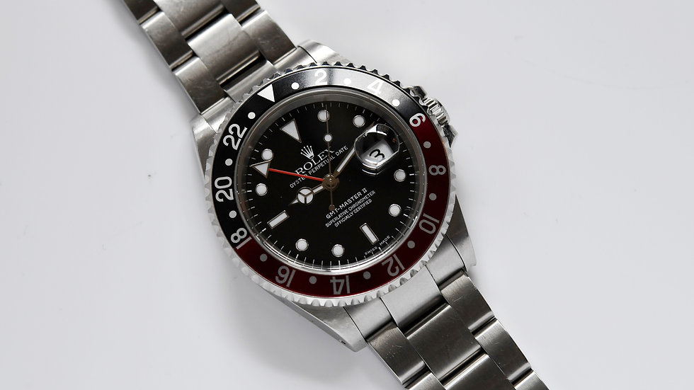 Rolex GMT-Master II Coke 16710 2003 Box and Bill Serviced