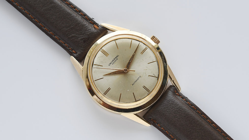 Universal Geneve Automatic 14k Gold Ref 14031 35mm Serviced