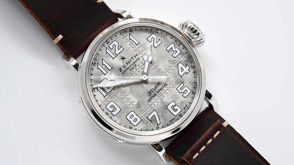Zenith Pilot Extra Special Sterling Silver Limited to 250 Box Papers 2019
