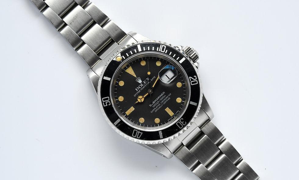 Rolex Submariner 16800 1983 Pumpkin Matte Dial