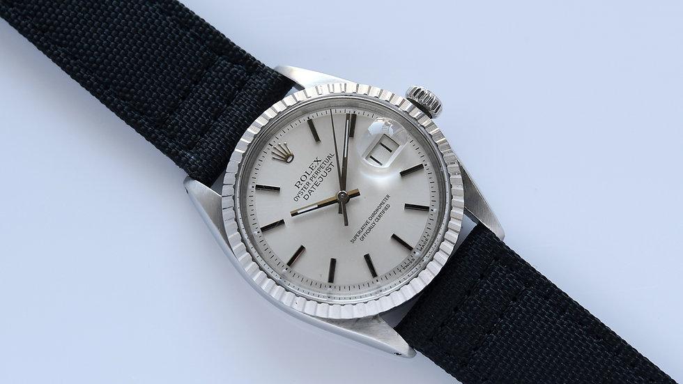 Rolex Datejust Silver Pie Pan Dial 1603 1971
