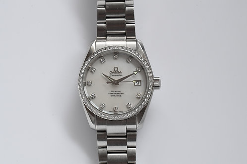 Omega Seamaster Aqua Terra Co-Axial Diamond Watch