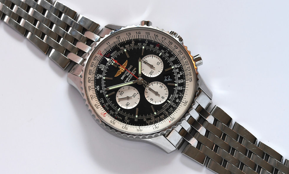 Breitling Navitimer 01 AB0127 Black Dial Bracelet Box Papers 2015